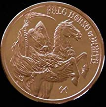 Four Horsemen of The Apocalypse Series 1 oz .999 Pure Copper Round/Challenge Coin (Pale Horse of Death)