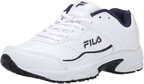 Fila Men's Memory sportland-m, White Navy/Metallic Silver, 12 M US