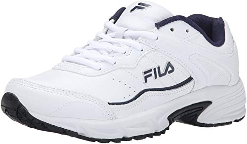 Fila Men's Memory sportland-m, White Navy/Metallic Silver, 10.5 M US