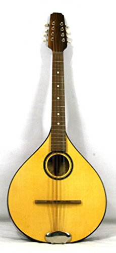 Musikalia Luthery ELECTRIFICADO VERSIÓN IZQUIERDA Mandola Irlandesa Plana, Octava en caoba, purfled, diapasón cm. 53