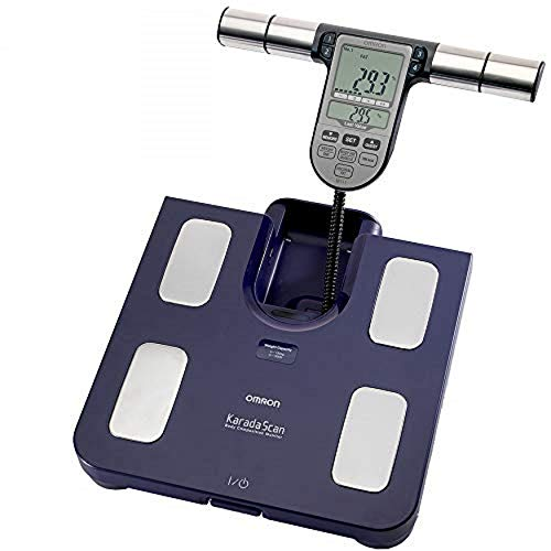 OMRON BF511 Clinically Validated Full Body Composition Monitor with 8 high-precision sensors for hand-to-foot measurement - Blue