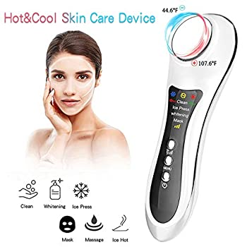 Hot and Cold Facial Massager Home Use Facial Cleansing Device Skin Care Beauty Machine for Wrinkles