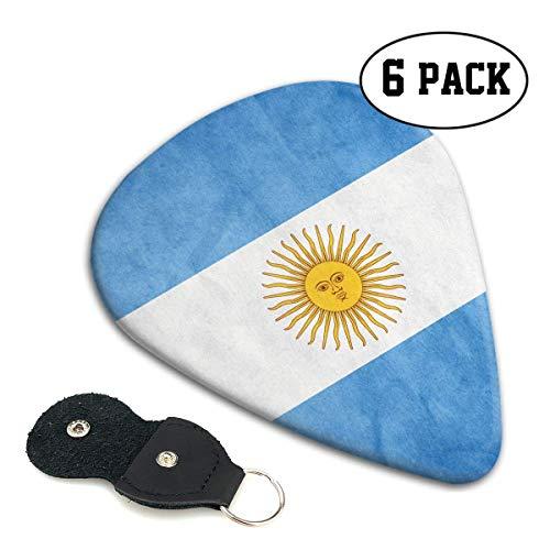 Argentinië Vlag Vintage 351 vorm klassieke Celluloid Gitaar Picks voor uw elektrische, akoestische, Mandoline, Bas en Ukulele Gitaar .71mm 6-Pack