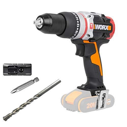 WORX WX354.9 Schlagbohrhammer 20V Max SlammerDrill ohne Akku und Ladegerät, 20 V, Schwarz