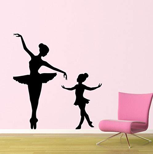 Aisufen Ballerina muursticker kinderen kinderkamer meisjes kamer Vinyl ballet muur lijm interieur kunst muurschildering voor kwekerij babykamer 56 * 110Cm