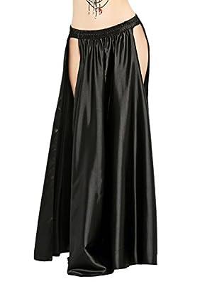 Dance Fairy Belly Dance Skirt Tribal Two Side Slit Skirt (no Belt)