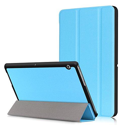 Xuanbeier Ultra Sottile Custodia e leggera PU Case Cover per HUAWEI Mediapad T3 10 Tablet 9.6 pollice Modello 2017,Blu Chiaro