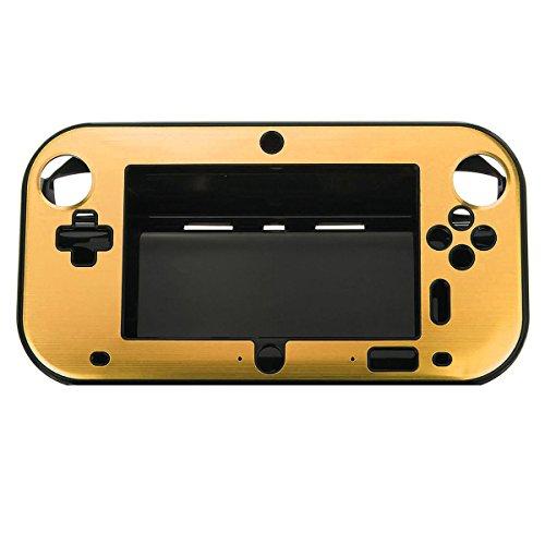 Caso de control de Nintendo Wii U Gamepad - TOOGOO(R) Caso nuevo de cubierta dura de aluminio para Nintendo Wii U Gamepad oro controlador remoto