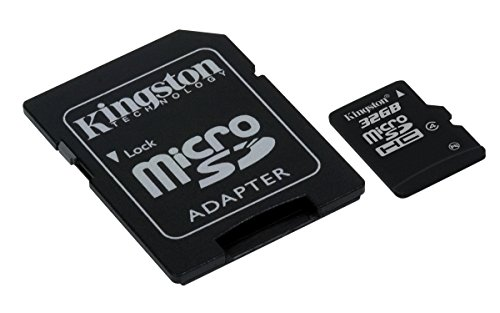 Kingston SDC4/32GB Micro SDHC 32GB Class 4 Speicherkarte (inkl. microSD zu SD Adapter)