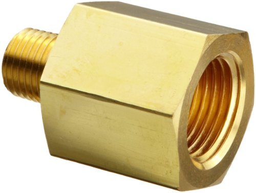 Reducing Hex Head Bushing 1//2 NPT Male x 1//4 NPT Female 1//2 NPT Male x 1//4 NPT Female Parker Hannifin Instrumentation Parker 8-4 RB-B Brass Pipe Fitting