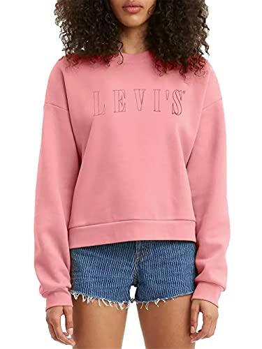 Levi's Graphic Diana Crew Maglia di Tuta, Serif Outline Garment Dye Blush, XS Donna