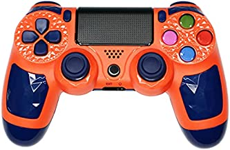 ZFY PS4 Game Controller, Bluetooth Wireless Gamepad Compatible with PS-4/Slim/Pro/PC/Android,High Sensitivity Game Joystick with Speaker and Touch Panel, USB Cable - Orange