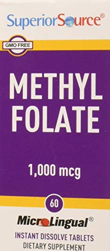 Methylfolate 1000 mcg Superior Source 60 Sublingual Tablet