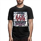 Photo de Men Three Six Mafia Logo Crew Neck Short Sleeve T-Shirt,Black,Large