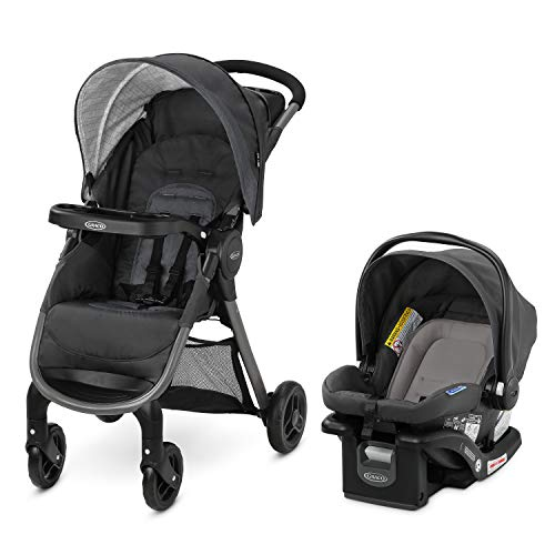 Graco FastAction SE Travel System | Includes Quick Folding Stroller and SnugRide 35 Lite Infant Car Seat, Redmond, Amazon Exclusive