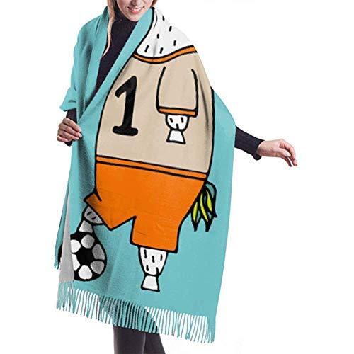 H.D. Bufanda de invierno para mujer, diseño de cachemira, suave y cálida, para mujer