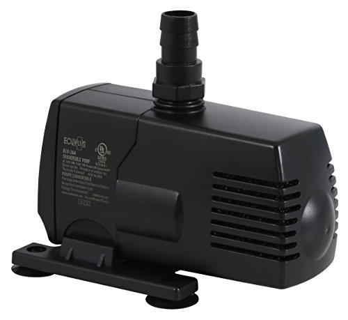 EcoPlus 290 GPH (1098 LPH, 17W) Submersible Water Pump w/ 6 ft Power Cord | Aquarium, Fish Tank, Fountain, Pond, Hydroponics