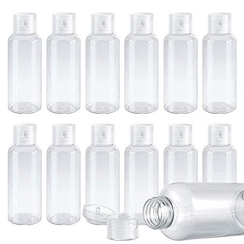10 Verpakkingen Van Reisflessen Met Doorzichtige Dop Van 50 Ml, Cosmetische Flessen, Reisverpakkingen, Shampoo, Lotion, Olie, Crème, Toner En Cosmetische Gelflessen (wit) Transparant