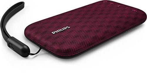 Philips Everplay BT3900P - Altavoz Bluetooth (Potente y portátil, Resistente al Agua, con micrófono, Correa USB) Color Rosa