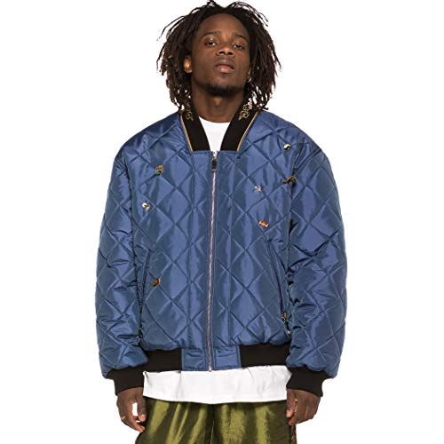 GRIMEY Chaqueta Bomber Transsiberian SS19 Blue-S