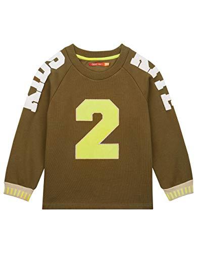 Oilily Sweatshirt in Olivgrün mit Kitesurf-Details YS19GHJ204