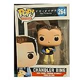 QTSL Pop Figures Friends Chandler Bing#264 Pop Vinyl Action Figure Toys Model Collection Dolls Gifts For Children Xmas with Box 10Cm