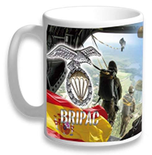 Tiendas LGP- Barbaric- Taza Ceramica Brigada Paracaidista Decorada con impresión fotográfica 3D con Motivos de la Bripac