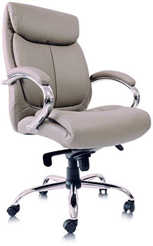 Kijng Chefsessel Kings - Grau Chrome Kunstleder Ergonomischer Bürostuhl Schreibtischstuhl Drehstuhl Sessel Stuhl