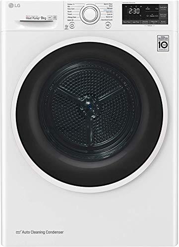 LG RC90U2AV4Q Asciugatrice Smart a Carica Frontale 9 Kg, Libera Installazione, Classe A+++, Intelligenza Artificiale, 60 x 69 x 85 cm - Bianco