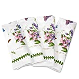 SERVE WITH STYLE: Add the finishing touches to your table with these Botanic Garden napkins from Portmeirion. GREAT ADDITION TO ANY MEAL: Available as a set of 4, each napkin features a variety of botanical motifs and brings a touch of class to speci...
