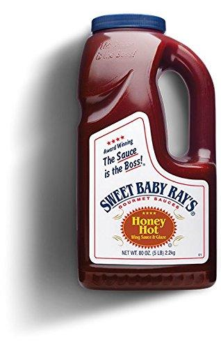 Sweet baby Ray's honey hot wing sauce and glaz Half gallon