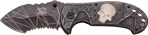 Dark Side Blades Couteau de Poche Dark prush Skull, Longueur de la Lame : 8,255 cm, dsbl de 1053