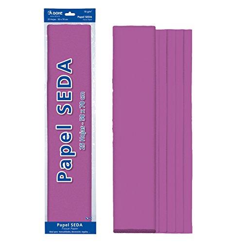 Dohe 30313 - Pack de 25 papeles seda, 50 x 70 cm, color morado