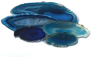 CrystalAge Rebanada de ágata azul - grande