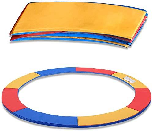 UISEBRT Cubierta de muelles para cama elástica, resistente a los rayos UV, alfombrilla de seguridad, tricolor, 30 cm de ancho, para cama elástica de 305 cm de diámetro