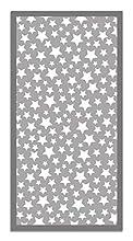 Panorama Alfombra Vinílica Estrellas Color Gris 60 x 110 cm - Alfombra Cocina Vinilo - Alfombra Salón Antideslizante, Antihongos e Ignífuga - Alfombras Grandes - Alfombras PVC