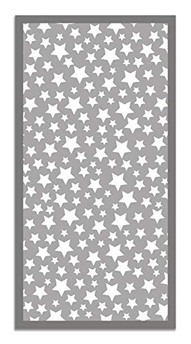 Panorama Alfombra Vinílica Estrellas Color Gris 120 x 170 cm - Alfombra Cocina Vinilo - Alfombra Salón Antideslizante, Antihongos e Ignífuga - Alfombras Grandes - Alfombras PVC