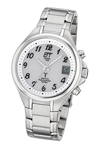 ETT Eco Tech Time Funk Solar Herren Uhr Chronograph mit Edelstahl Armband EGS-11179-12M