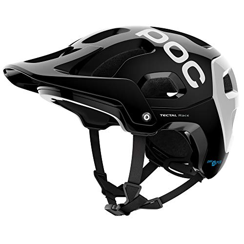 POC, Tectal Race Spin, Helmet for Mountain Biking, Uranium Black/Hydrogen White, X-Small/Small