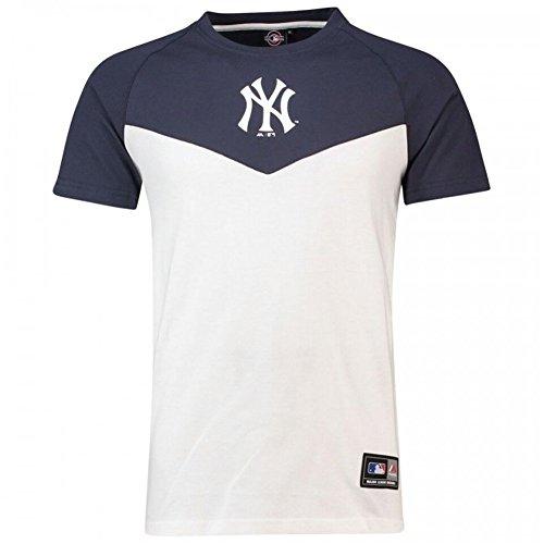 Majestic Camiseta MLB New York Yankees Klass Long Line Blanco/Azul Talla: M (Medium)