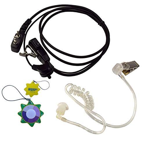 HQRP 2 Pin Micro-Auricular Micrófono Tubo Acústico para ICOM IC-F44GS / IC-F44GT / IC-F4GS / IC-F4GT Talkie-Walkie + HQRP medidor del Sol