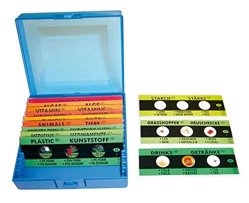 Betzold 85797 - Fertigpräparate mit Sortierbox - Zubehör für Mikroskop, Biologie, 36 Präparate