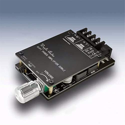 WUHUAROU Amplificador De Potencia De Audio Bluetooth 5.0 Digital 50W + 50W...