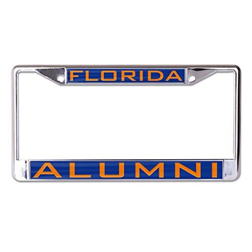 Wincraft NCAA Florida Gators Alumni Inlaid Metal License Plate Frame, 2-Tag Corners