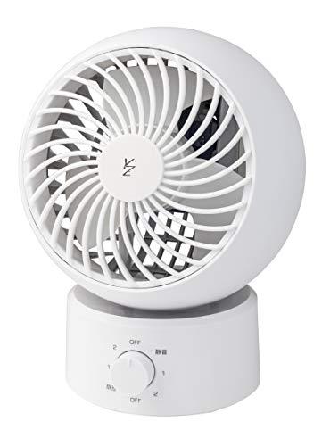 【Amazon.co.jp 限定】 [山善] 扇風機 サーキュレーター 静音 (換気/空気循環) 首振り 固定 上下角度調節 風量3段階調節 ホワイト 15cm AAS-W15(W) [メーカー保証1年]