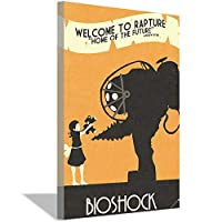 BioShockポスターキャンバス絵画アートポスターとプリントモダンアートリビングルーム寝室装飾壁画