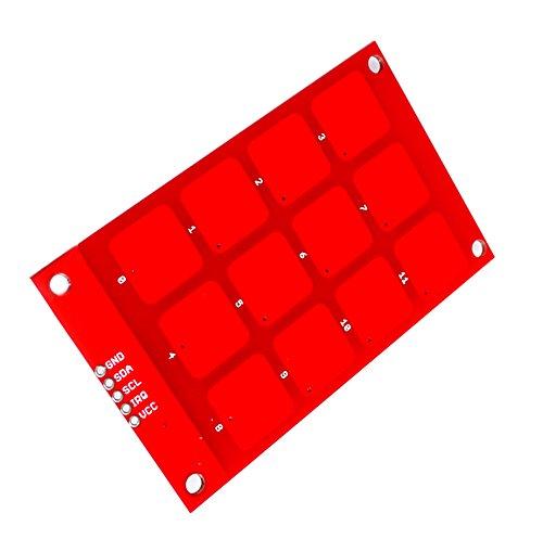 DaoRier CJMCU-122 MPR121 Kapazitive Touch-Modul-Taste Sensor-Tastatur 12-Key Ausgang 3.3V