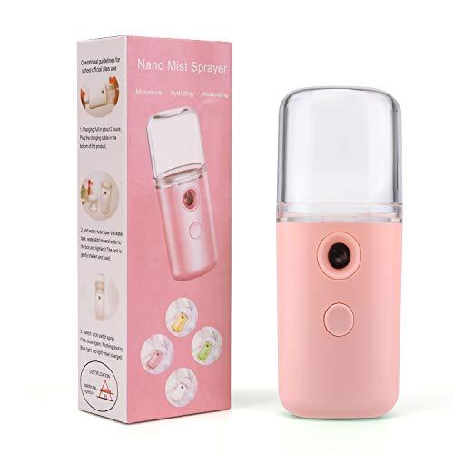 QKURT Nano Mist Sprayer, vaporizador facial Nano Mister Spray de hidratación para uso diario Maquillaje Misture Skin- USB recargable portátil