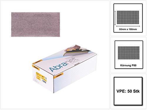 Mirka 5412805080 Abranet Grip P80, 93 x 180 mm, 50 Pro Pack