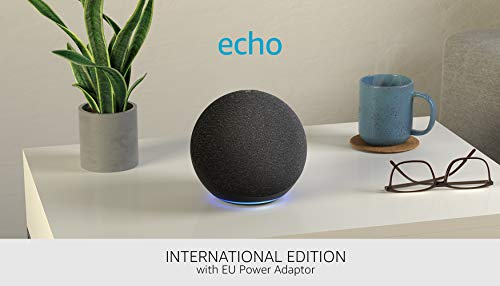 All-new Echo (4th generation) International Version   With premium sound, smart home hub and Alexa   Charcoal